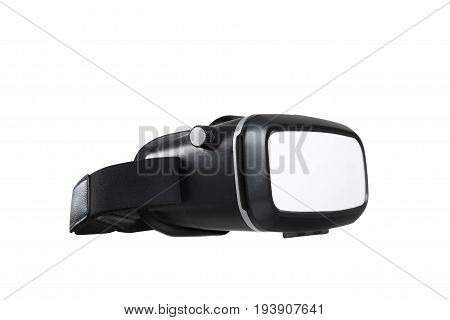 VR virtual reality glasses half turned isolated on white background