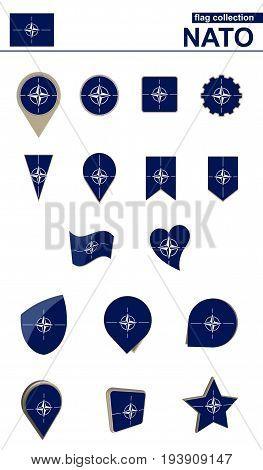 Nato Flag Collection. Big Set For Design.