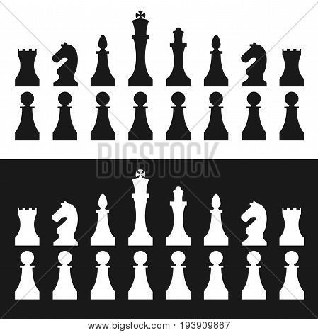 Chess pieces set for design. Vector set.