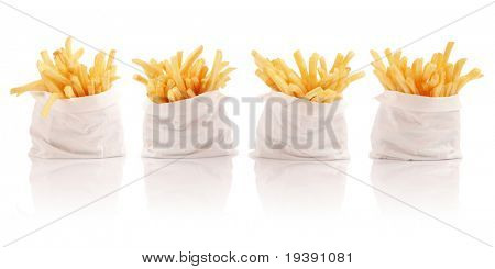 Four packs of french fries