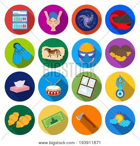 sport, business, tourism and other  icon in flat style. sun, hygiene, recreation, icons in set collection.