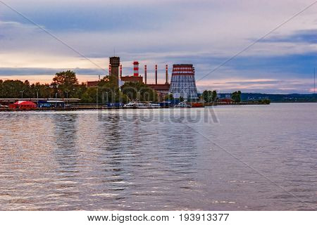 View of the Izhevsk Machinebuilding Plant from the pond