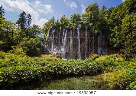 Beautiful Croatian Waterfalls In Plitvice Lakes