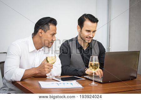 Business People Talking Together For Work, Business Partner Concept.
