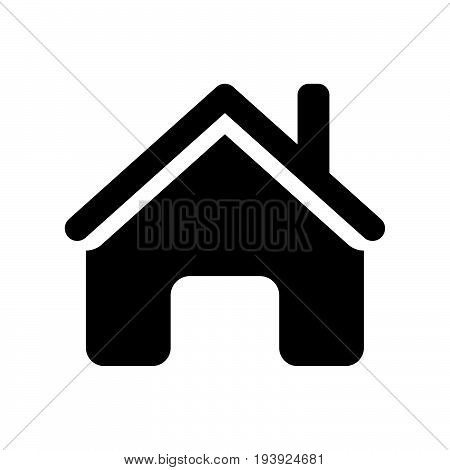 Home icon iconic symbol on white background. Vector Iconic Design.