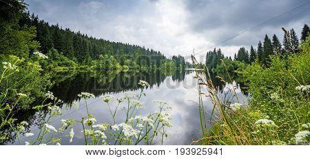 lake in a forest - Sumava - national park Czech republic Europe