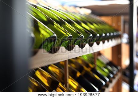 Wine cellar.A bottle of wine, how to build a wine collection
