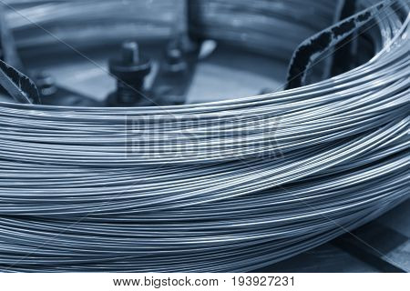 The wire cord material for machining process.