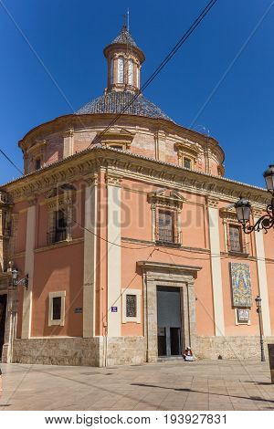 VALENCIA, SPAIN - JUNE 12, 2017: Basilica de la Virgen in the historic center of Valencia, Spain