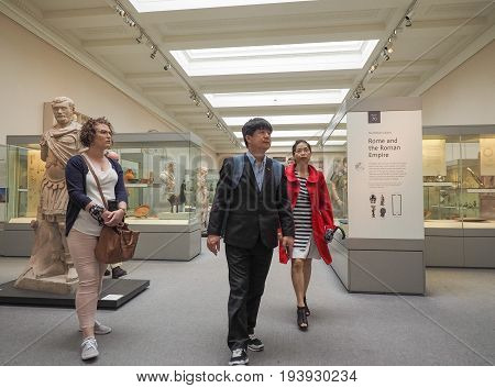 Tourists At British Museum In London