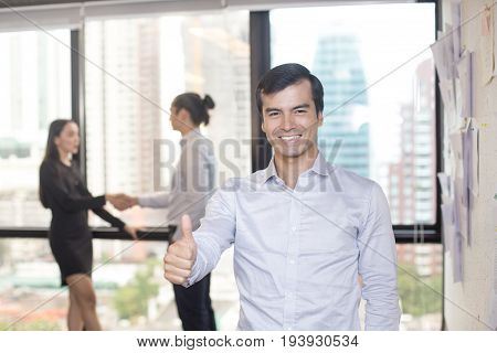 Businessman With Leader Concept And A Group Of Person, 30-40 Year Old.