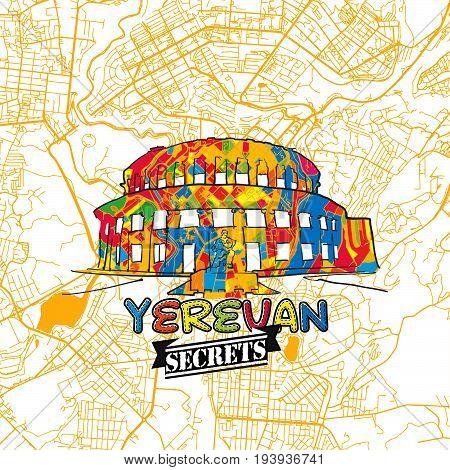 Yerevan Travel Secrets Art Map