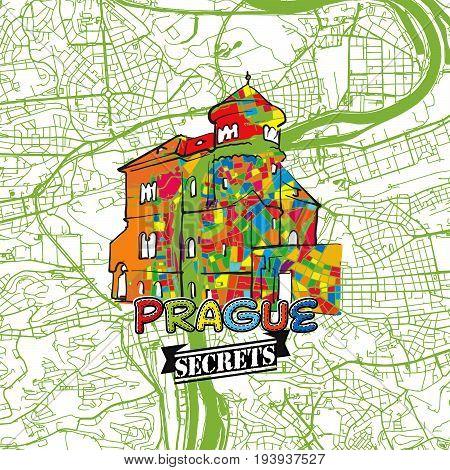 Prague Travel Secrets Art Map