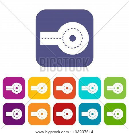 Circular impasse icons set vector illustration in flat style In colors red, blue, green and other