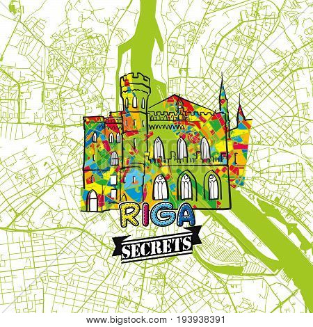 Riga Travel Secrets Art Map