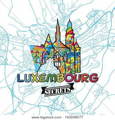 Luxembourg Travel Secrets Art Map