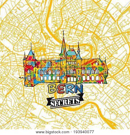 Bern Travel Secrets Art Map