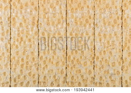Background From Tiled Crispbread On Table