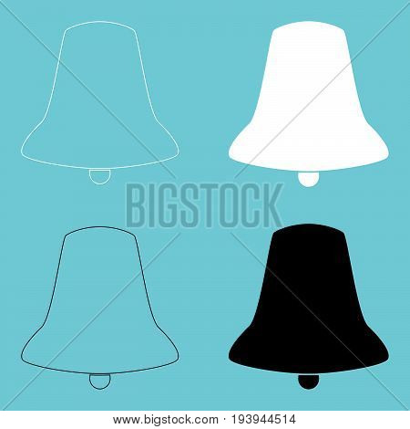 Bell  The Black And White Color Icon .