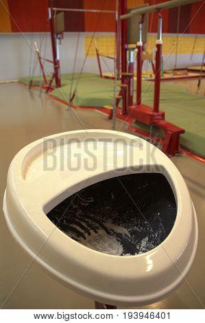 Gymnastic equipment in a gymnastic center