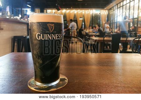 Kuala Lumpur, Malaysia, July 1, 2017:  Guinness Is An Irish Dry Stout That Originated In The Brewery