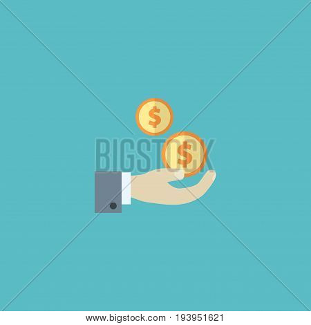 Flat Icon Net Income Element. Vector Illustration Of Flat Icon Profit Isolated On Clean Background. Can Be Used As Profit, Net And Income Symbols.