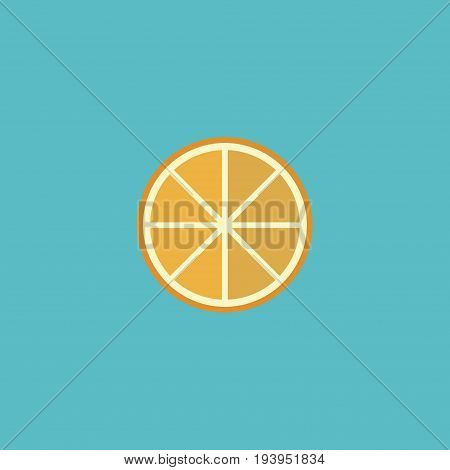 Flat Icon Orange Element. Vector Illustration Of Flat Icon Citrus Isolated On Clean Background. Can Be Used As Orange, Citrus And Fruit Symbols.