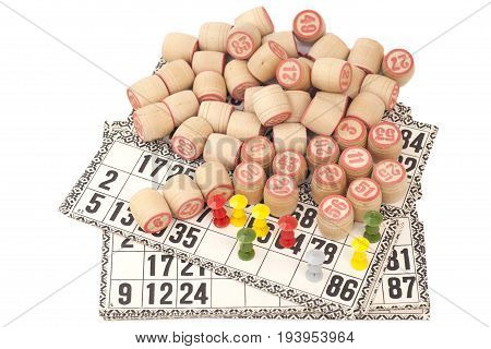 Cards And Kegs For Russian Lotto Bingo Game