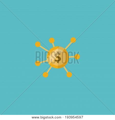Flat Icon Crowdfunding Element. Vector Illustration Of Flat Icon Financing Isolated On Clean Background. Can Be Used As Financing, Crowdfunding And Joint Symbols.