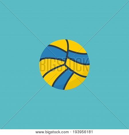 Flat Icon Ball Element. Vector Illustration Of Flat Icon Volleyball  Isolated On Clean Background. Can Be Used As Volleyball, Ball And Sport Symbols.
