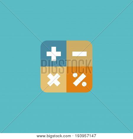 Flat Icon Math Element. Vector Illustration Of Flat Icon Algebra Isolated On Clean Background. Can Be Used As Algebra, Calculate And Math Symbols.
