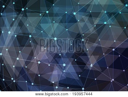 Abstract network data connection technology. Digital background. 3d illustration