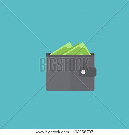 Flat Icon Wallet Element. Vector Illustration Of Flat Icon Billfold  Isolated On Clean Background. Can Be Used As Wallet, Purse And Billfold Symbols.