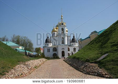 The Assumption cathedral in citadel of Dmitrov town, Russia