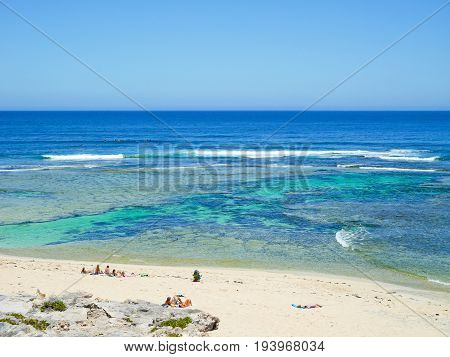 View of Surfers Point, Margaret River, Western Australia
