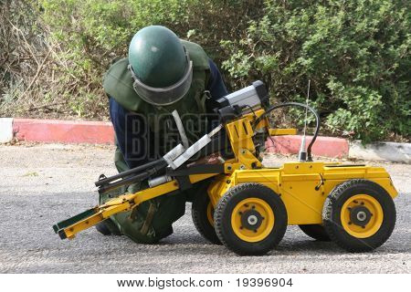The robot-miner in work
