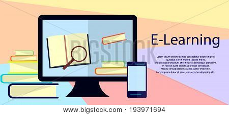 Education infographic. Flat vector illustration for e-learning and online education. Vector Illustration