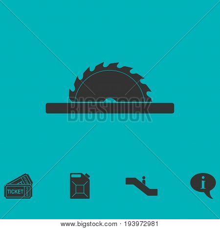 Circular saw blades icon flat. Simple vector symbol and bonus icon