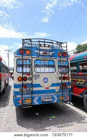 Chicken bus antigua in Guatemala May 2015