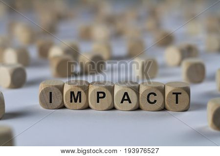 Impact - Cube With Letters, Sign With Wooden Cubes