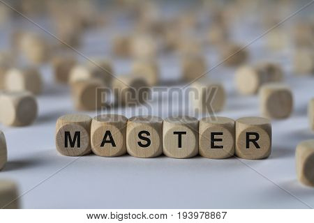 Master - Cube With Letters, Sign With Wooden Cubes