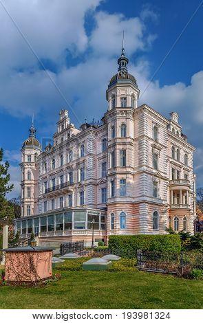 building of Bristol hotel in Karlovy Vary Czech republic