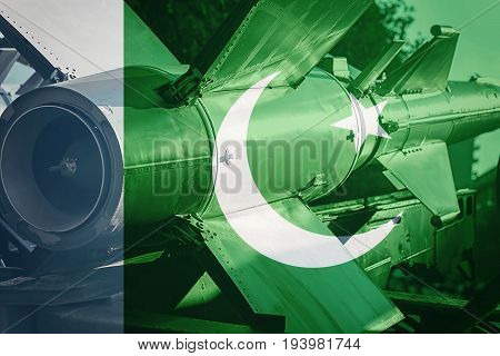 Weapons Of Mass Destruction. Pakistan Icbm Missile. War Background.
