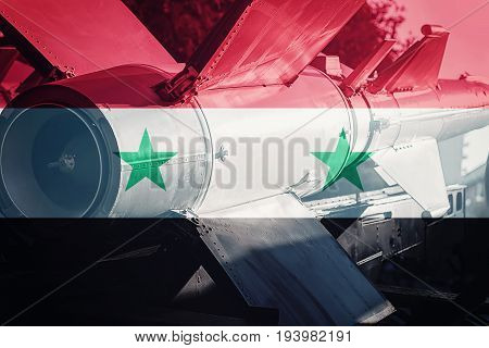 Weapons Of Mass Destruction. Syrian Icbm Missile. War Background.