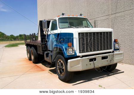 Flat Bed Truck Front Angle