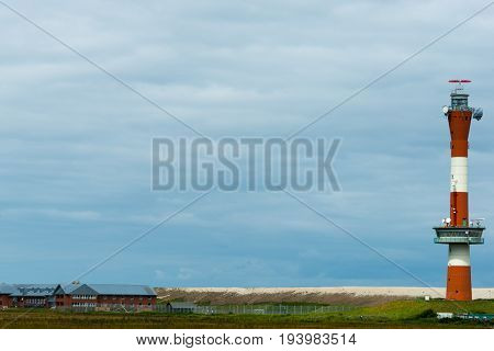 Wangerooge, Germany.  04Th July 2017: View Of The New Lighthouse In The West On The Island Wangeroog