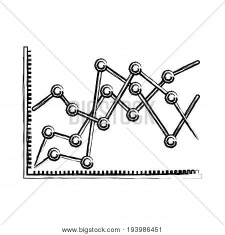 blurred silhouette of statistical graphs linear rising vector illustration