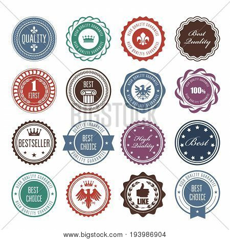 Emblems badges and stamps - prize seals designs