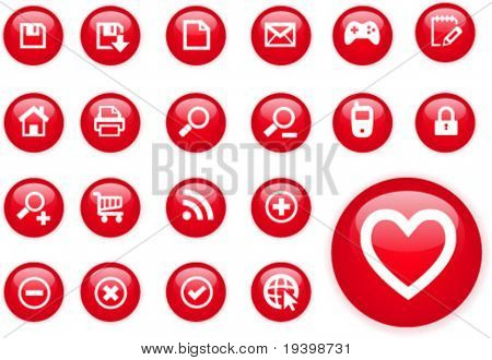 Circle red icons