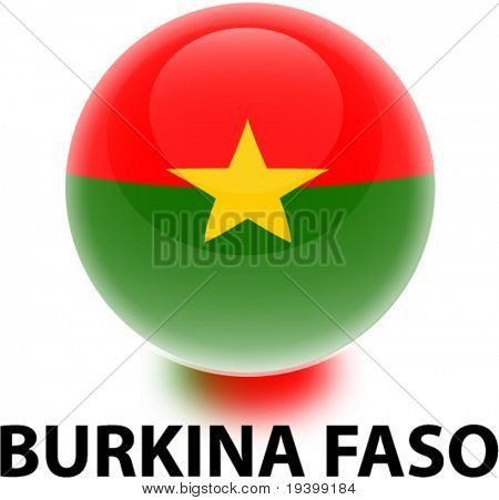 Flag Burkina Faso Orb